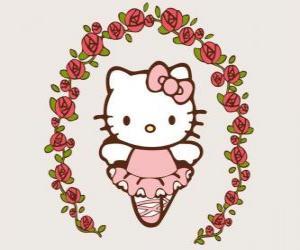 Rompicapo di Hello Kitty con fiori