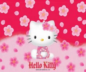 Rompicapo di Hello Kitty con fiori