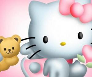 Rompicapo di Hello Kitty con il suo Teddy Bear Tiny Chum