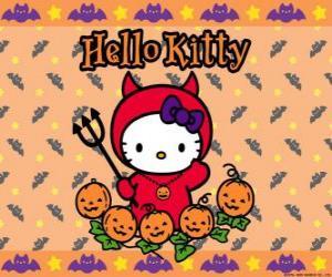 Rompicapo di Hello Kitty vestita per Halloween