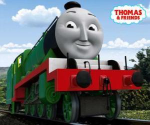 Rompicapo di Henry, la locomotiva verde lunga e veloce con li numero 3