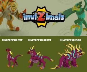 Rompicapo di Hilltopper in tre fasi Hilltopper Pup, Hilltopper Scott e Hilltopper Max, Invizimals