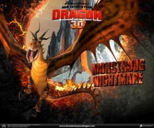 Rompicapo di I draghi giganti Incubo Orrendo che attaccare in qualsiasi momento del giorno o della notte, dal cielo o il terreno