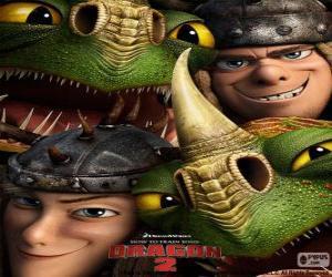Rompicapo di I fratelli gemelli, Testa di Tufo e Testa Bruta Thorston con loro draghi