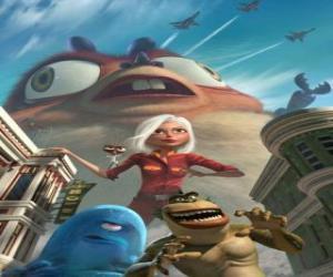 Rompicapo di I mostri sono gli eroi - Ginormica, Professor Scarafaggio, B.O.B, Anello Mancante e Insettosauro