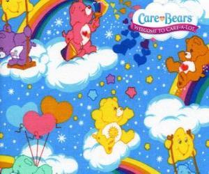 Rompicapo di I Orsetti del cuore giocando con le nuvole e gli arcobaleni
