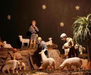 Rompicapo di I pastori dei personaggi della natività