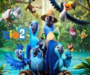 Rompicapo di I personaggi principali del film Rio 2
