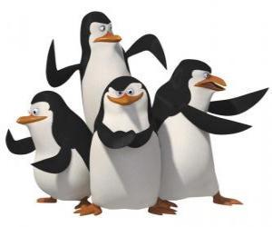 Rompicapo di I pinguini, Skipper, Kowalski, Rico e private.