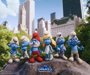 Rompicapo di I puffi nel Central Park a New York - I Puffi, film -