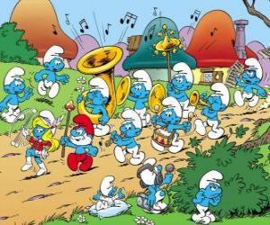 Rompicapo di I Puffi sono una band