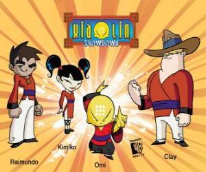 Rompicapo di I quattro guerrieri Xiaolin: Raimundo, Kimiko, Omi e Clay