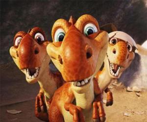 Rompicapo di I tre piccoli dinosauri