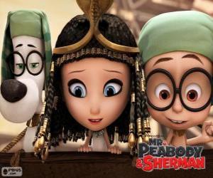 Rompicapo di I tre protagonisti del film Mr Peabody e Sherman