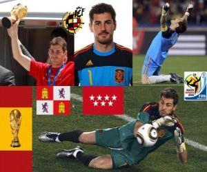 Rompicapo di Iker Casillas (il santo di Móstoles) il portiere Selezione spagnolo