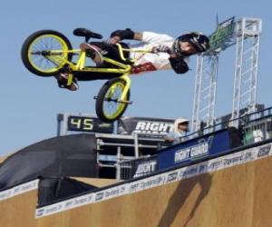 Rompicapo di Il BMX acrobatica è una forma di bicicletta