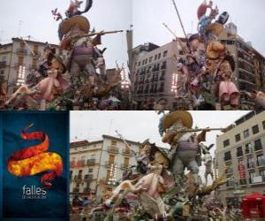 Rompicapo di - Il cacciatore cacciato - vincitore del Fallas 2011. La festa delle Fallas viene celebrata 15-19 marzo a Valencia, in Spagna.