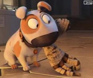 Rompicapo di Il cane Jeff con il braccio di una mummia in bocca