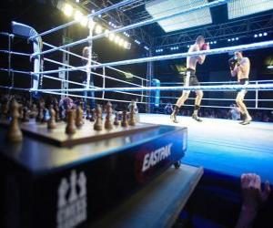 Rompicapo di Il chess boxing o scacchi-pugilato è uno sport ibrido, che mescola la boxe e gli scacchi