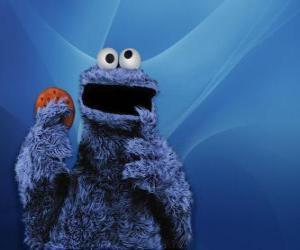Rompicapo di Il Cookie Monster è mangiare un biscotto