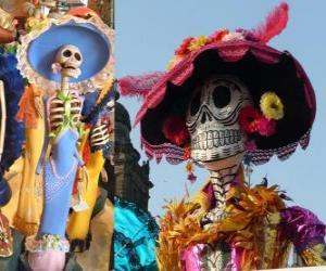Rompicapo di Il cranio Catrina, uno dei più popolari Giorno dei Morti in Messico