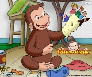 Rompicapo di Il curioso scimmia George rende burattini