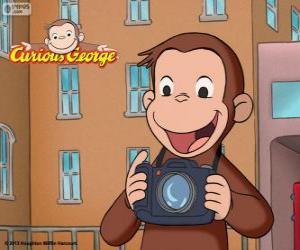 Rompicapo di Il curioso scimmia George con una macchina fotografica