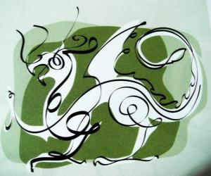 Rompicapo di Il drago, il segno del Drago, l'Anno del Dragone. Quinto animale dello zodiaco cinese