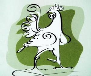 Rompicapo di Il gallo, il segno del Gallo, l'Anno del Gallo in astrologia cinese. Il decimo degli animali dell'oroscopo cinese