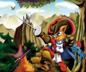 Rompicapo di Il Gatto con gli stivali con la spada tenuta alta