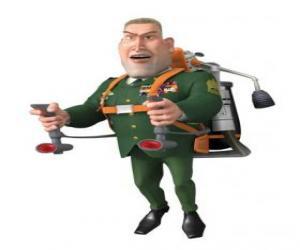 Rompicapo di Il Generale W. R. Monger facendo il saluto militare
