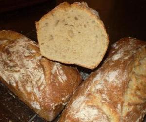 Rompicapo di Il pane è un alimento di base che fa parte della dieta tradizionale in Europa, Medio Oriente, India e America.