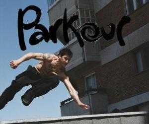 Rompicapo di Il Parkour è una disciplina o filosofia è quella di spostarsi da un punto all'altro nel modo migliore possibile