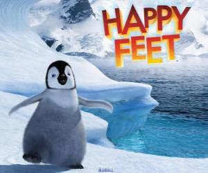 Rompicapo di Il piccolo pinguino imperatore, protagonista di Happy Feet