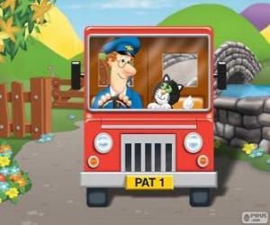 Rompicapo di Il postino Pat con il suo gatto Jess nella distribuzione della posta