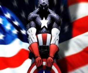 Rompicapo di Il supereroe Capitan America è un patriota e un esperto nel combattimento ravvicinato