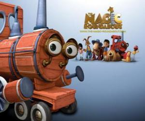 Rompicapo di Il treno, uno dei giocattoli magico nel film Dougal, The Magic Roundabout