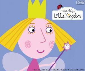 Rompicapo di Il volto della piccola fata, la principessa Holly con la sua corona