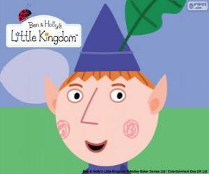 Rompicapo di Il volto dil elfo Ben e il suo cappello triangolare con la foglia di quercia