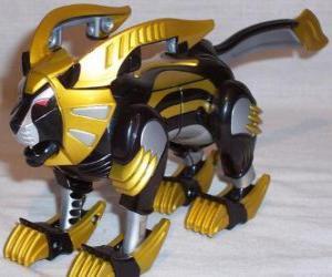 Rompicapo di Il Zord Leone, Power Ranger Giallo. Ninja Power Rangers