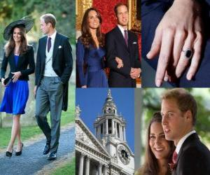 Rompicapo di Impegno del Principe William d'Inghilterra a Catherine Middleton