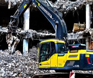 Rompicapo di In un escavatore demolizione