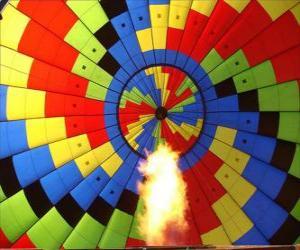 Rompicapo di Interno di un palloncino con la fiamma