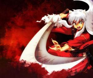 Rompicapo di Inuyasha con la sua spada usata nelle sue battaglie contro mostri e nemici