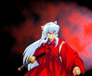 Rompicapo di Inuyasha, un mezza demone dal Giappone feudale, dove vive emozionanti avventure