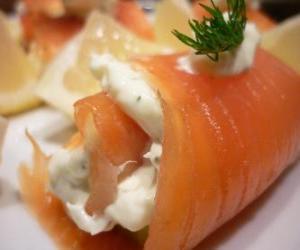 Rompicapo di Involtini di salmone