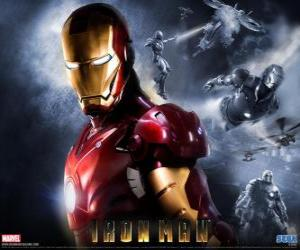 Rompicapo di Iron Man ha una corazza molto potente che gli permette di volare, ti dà una forza sovrumana e le armi speciali disponibili