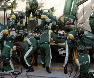 Rompicapo di Jarno Trulli - Lotus - Bahrain 2010