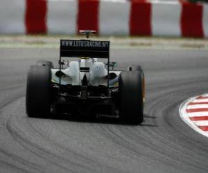Rompicapo di Jarno Trulli - Lotus - Barcellona 2010