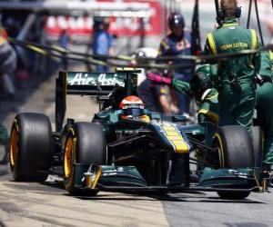 Rompicapo di Jarno Trulli - Lotus - Barcellona 2011